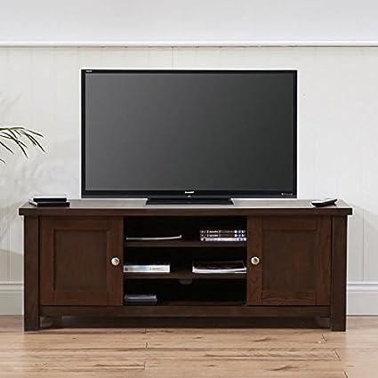 Sandringham Solid Wood TV Unit (Colours Oak/Dark Oak Rustic)