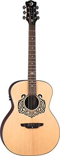 Luna Celtic Series Swan Acoustic-Electric Guitar, Solid Spruce Top - Natural