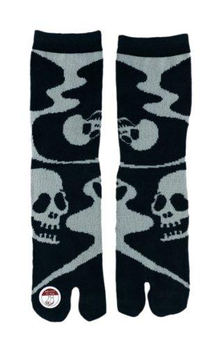 Sandal Socks, Japanese Samurai/ Geisha Flip- Flop Tabi Socks: Skeleton! front-1014321