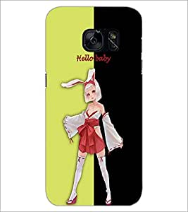 PrintDhaba Bold girl D-3207 Back Case Cover for SAMSUNG GALAXY S7 (Multi-Coloured)