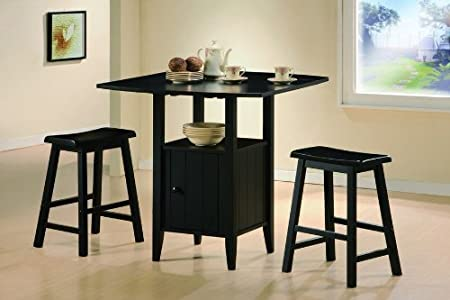 Drop Leaf Pub Set with Stools