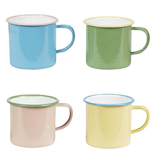 vier-zwei-ton-retro-pastellfarben-emaille-camping-tassen-urlaub-glamping-geschenk