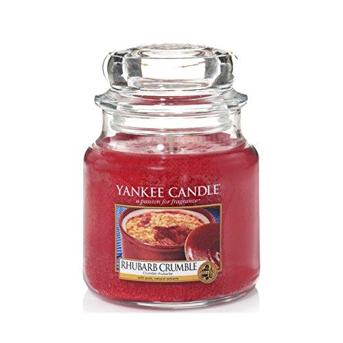 YANKEE CANDLE - 1519662E - BOUGIE PARFUMEE JARRE MOYENNE CRUMBLE RHUBARBE