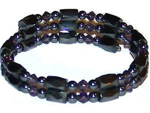 Hematite Magnetic Bracelet Wrap - Purple