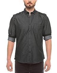 Shuffle Men's Casual Shirt (8907423017399_2021510802_X-Large_Grey)