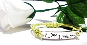 One Direction Yellow Silver Friendship Bracelet Love Forever 1D Boy Band The best gift- One Any Size Adjustable