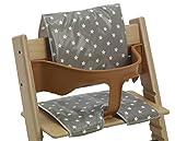 Cojines de silla alta-essuyez cirée limpio-adaptado para Tripp Trapp y el estilo de Babydan sillas altas gris Gris Olive