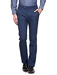 Canary London Patriot Blue Men's Slim Fit Flat Front Trousers