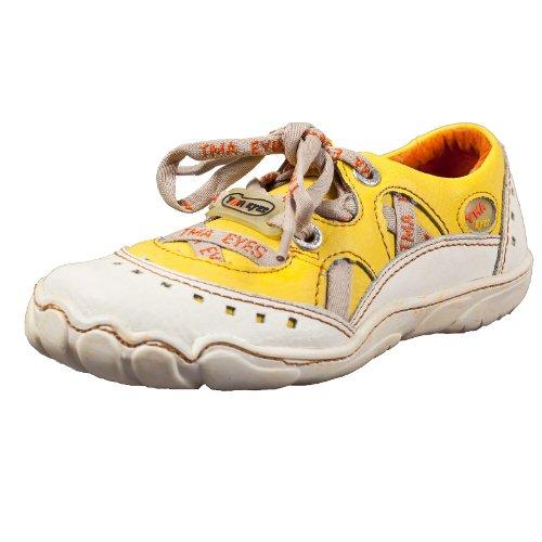 TMA EYES 2509 Schnürer Gr.36-41 mit bequemen perforiertem Fußbett , Leder 39.35 super leichter Schuh der neuen Saison. ATMUNGSAKTIV in Gelb Gr. 36