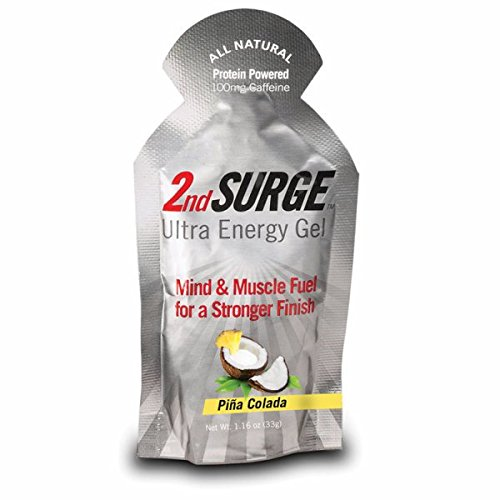 Pacific Health Food 2nd Surge Pina Colada Gel (Box of 8), 1.16 oz, w/100mg of caffeine (Accelerade Energy Gel compare prices)