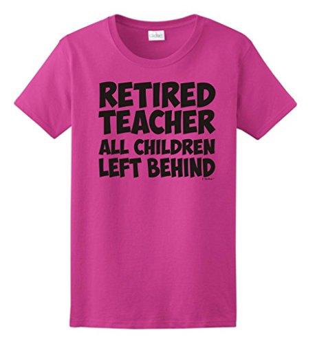 Pink Retired Teacher Gift Ladies T-Shirtt