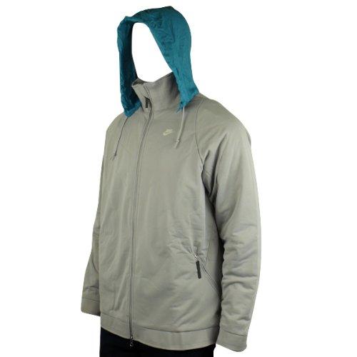 New Mens Nike TN Air Hooded Full Zip Coat Grey Hoodie Jacket Size M