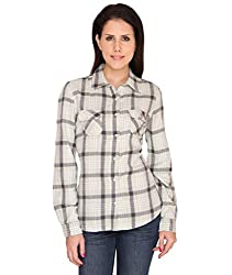Bedazzle Green and Black Checks Cotton Fullsleeves Shirt