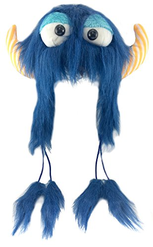 Beverly's Fabrics Girl's Monster Hat With Horns Blue