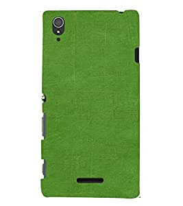 PrintVisa Green Pattern 3D Hard Polycarbonate Designer Back Case Cover for Sony Xperia T3