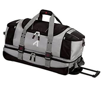 Athalon Wheeling Cargo Ballistic Duffel Bag (Platinum, 29-Inch)