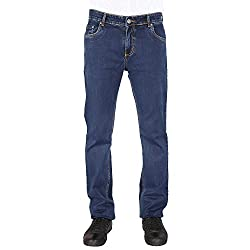 Flags Dark Blue Stretch Slim Fit Men's Jeans_Size 36