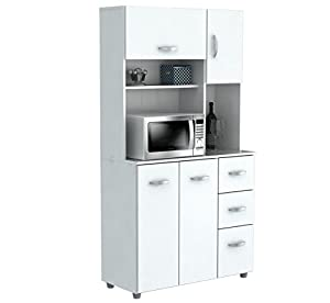 Kitchen Microwave Pantry Storage Cabinet With Amazon.com: Inval America  Door Storage Cabinet With
