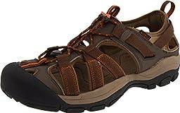 KEEN Men\'s Owyhee Sandal,Slate Black/Rust,11 M US