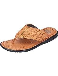 DATZZ Men's Tan Denim Sandals - B018U63TOO