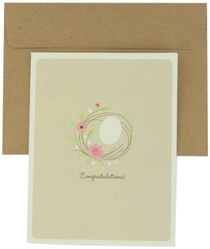 Prima 200428 Single Greeting Card, Congratulation, 5-1/2 by 4-1/4-Inch