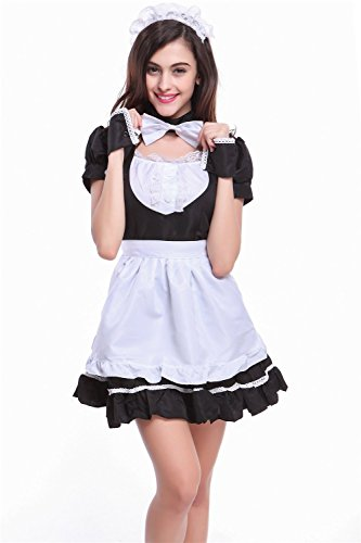 Oryer Lovely Lolita French Maid Costume Animation Cosplay Maid Outfit Dress