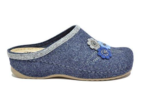 Melluso Ciabatte scarpe donna blu Q61012 40