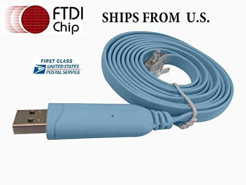 Ftdi USB to Serial / Rs232 Console Rollover Cable for Cisco Routers - Rj45