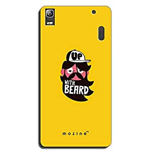 Mozine Up With Beard printed mobile back cover for Lenovo a7000