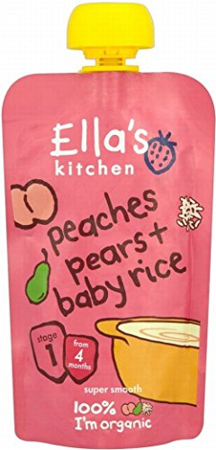 Ella'S Kitchen Organic Peaches Pears & Baby Rice 4Mth+ (120G)