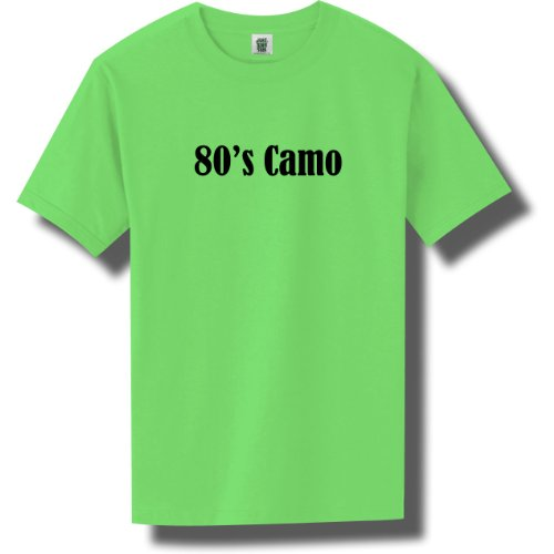 80's Camo Bright Neon Short Sleeve T-Shirt - Available in 5 bright colors