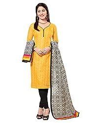 Fabgruh Beautiful Yellow Colours Dress Material FG-7AKS13004