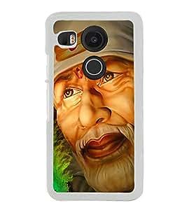 Sai Baba 2D Hard Polycarbonate Designer Back Case Cover for LG Nexus 5X :: LG Google Nexus 5X New