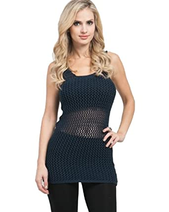 G2 Chic Women's Cable Knit Tunic Tank(TOP-CTK,DBL-M)