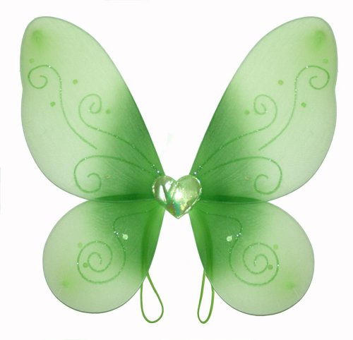 Green Swirl Butterfly Wings Dress Up Fairy Girl Birthday Party Halloween Costume