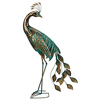 Regal Art & Gift Preening Patina Peacock Decor, 40
