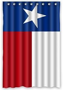 Popular Bath Texas State Flag Shower Curtain 48 X 72 With Hooks