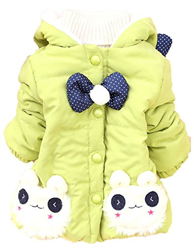 Baby Girls Rabbit Winter Basic Jacket Coat Clothes Snowsuit Outwear (8(2 Years), Green) front-61355
