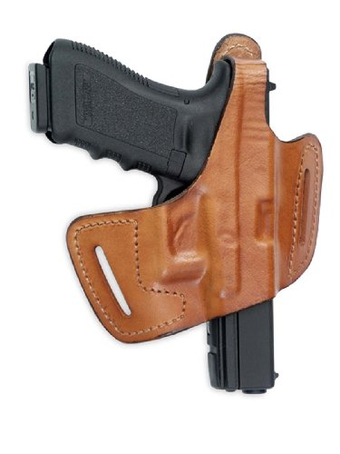Front Line Fast-Draw Belt-Slide Leather Holster (Brown), Right Hand, C.Z. 75 P07 Duty
