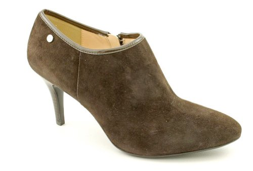 Calvin Klein Jenny Womens Size 10 Dark Brown Suede Ankle Booties Shoes