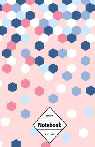 gmco-notebook-journal-dot-grid-lined-graph-120-pages-55x85-hexagon-confetti-pink-confetti-notebook