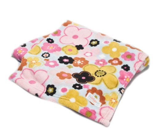 Jr. Delightful Patterns Toddler Blanket with Brightly Colored Pansies - 1