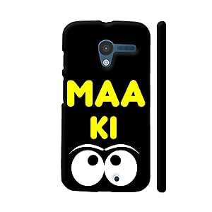 Colorpur Maa Ki Angi Or Aankh On Black Designer Mobile Phone Case Back Cover For Motorola Moto X1 | Artist: Designer Chennai