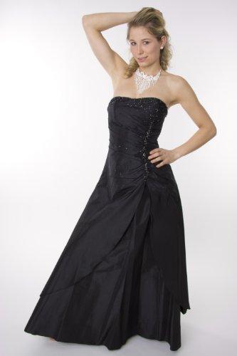 2010 Abendkleid lang, schulterfrei, schwarz Größe 40 ...