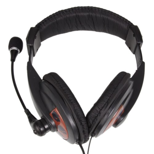 3.5Mm Headphone Headset Microphone For Pc Laptop/Computer Black Mic