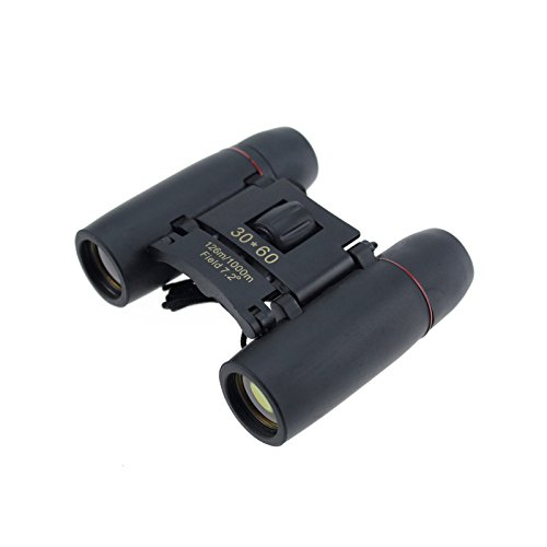 Freedancer Binoculars 30X60 Zoom Folding Telescope With Coated Optics Night Vision (Black)