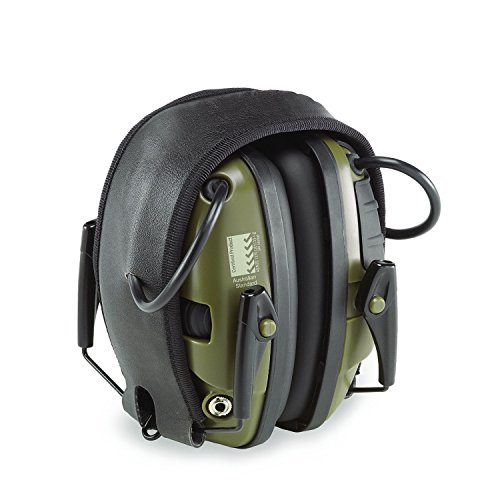 Foldable Noise Canceling Ear Muffs, Sport Sound Amplification Electronic Earmuff, Classic Green (Electronic Ear Protection Peltor compare prices)