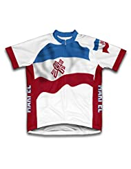 Mari El Flag Short Sleeve Cycling Jersey for Women