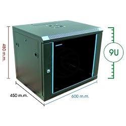 Cablematic - Armario rack de 19 RackMatic SOHORack de 9U y fondo 450