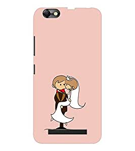 EPICCASE Newly wed couple Mobile Back Case Cover For Lenovo A2020 (Designer Case)